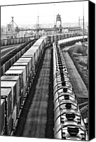 Bill Kesler Canvas Prints - Trains Stop For Servicing Canvas Print by Bill Kesler