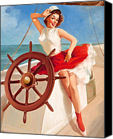 Boat Special Promotions - Vintage Pin Up Canvas Print by Vintage Canvas