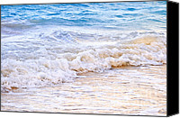 Exotic Canvas Prints - Waves breaking on tropical shore Canvas Print by Elena Elisseeva