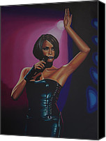 Art Of Soul Singer Canvas Prints - Whitney Houston Canvas Print by Paul Meijering
