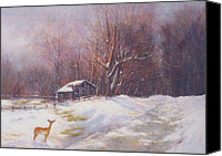 Shed Pastels Canvas Prints - Winter Palette Canvas Print by Howard Scherer