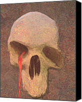 Macabre Canvas Prints - Woe to the Living Canvas Print by Jacob King