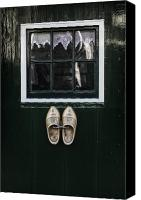 Joana Kruse Canvas Prints - Wooden Shoes Canvas Print by Joana Kruse