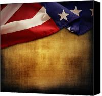 Stars And Stripes Canvas Prints - American flag Canvas Print by Les Cunliffe