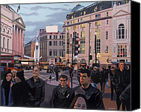 Urban Scenes Canvas Prints - Piccadilly Circus Canvas Print by Malcolm Warrilow