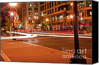 Street Special Promotions - 1400 New York Downtown DC Canvas Print by Joe Russell