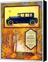 Indiana Autumn Digital Art Canvas Prints - 1923 - Cole Brouette Automobile Advertisement - Color Canvas Print by John Madison