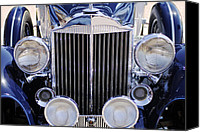 Grille Canvas Prints - 1933 Packard 12 Convertible Coupe Classic Car Canvas Print by Jill Reger