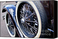 Mary Deal Canvas Prints - 1934 Plymouth Spare Tire Canvas Print by Mary Deal