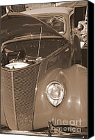 Mary Deal Canvas Prints - 1939 chevy Woody in Sepia Canvas Print by Mary Deal