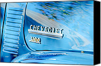 1949 Canvas Prints - 1949 Chevrolet 3100 Pickup Truck Emblem Canvas Print by Jill Reger
