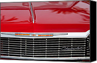 Chevrolet Impala Canvas Prints - 1964 Chevrolet Impala Grille Emblem Canvas Print by Jill Reger