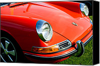Porsche 911 Canvas Prints - 1968 Porsche 911 Front End Canvas Print by Jill Reger