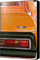Muscle Car Photo Canvas Prints - 1971 AMC Javelin AMX Taillight Emblem Canvas Print by Jill Reger