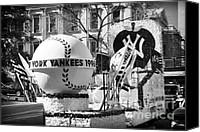 John Rizzuto Canvas Prints - 1996 Yankees Float Canvas Print by John Rizzuto