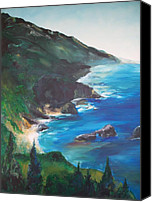 Landscapes Drawings Canvas Prints -  Big Sur   Canvas Print by Eric  Schiabor