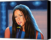Paul Meijering Canvas Prints - Alanis Morissette  Canvas Print by Paul Meijering
