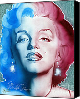 Marylin Canvas Prints - American Girl Canvas Print by Luis  Navarro