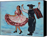 Rhythms Canvas Prints - Argentinian Folk Dance Canvas Print by Xueling Zou