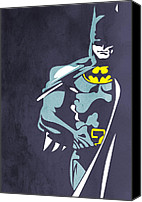 Bat Digital Art Canvas Prints - Batman  Canvas Print by Mark Ashkenazi