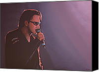 Irish Rock Band Canvas Prints - Bono Canvas Print by Paul Meijering