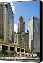 Fine Arts Canvas Prints - Classic Chicago -  The Jewelers Building Canvas Print by Christine Till