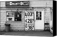 Garbage Canvas Prints - Congers New York - Gas Station Canvas Print by Frank Romeo