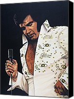 Realistic Art Canvas Prints - Elvis Presley Canvas Print by Paul Meijering