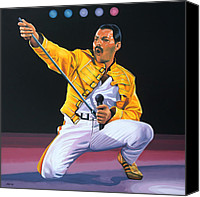 Paul Meijering Canvas Prints - Freddy Mercury Canvas Print by Paul Meijering