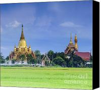 Contry Canvas Prints - Golden pagoda Canvas Print by Anek Suwannaphoom