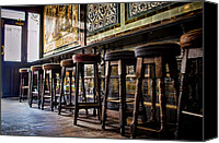 Bars Canvas Prints - Have a Seat Canvas Print by Heather Applegate