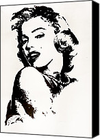 Marylin Canvas Prints - Marilyn Monroe Canvas Print by Paula Sharlea