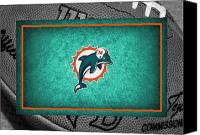 Miami Dolphins Canvas Prints - Miami Dolphins Canvas Print by Joe Hamilton