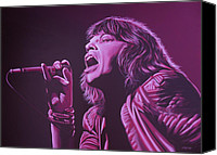 Realistic Art Canvas Prints - Mick Jagger Canvas Print by Paul Meijering