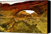 Southern Utah Canvas Prints - Natural Bridge Canvas Print by Jeff  Swan
