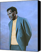 Art Of Soul Singer Canvas Prints - Otis Redding Canvas Print by Paul Meijering