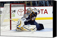 Vezina Canvas Prints - Pekka Rinne Canvas Print by Don Olea