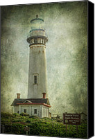 Blue Point Canvas Prints - Pigeon Point Light Station Canvas Print by Erik Brede