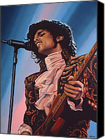 Art Of Soul Singer Canvas Prints - Prince Canvas Print by Paul Meijering