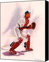 All-star Painting Canvas Prints - Sandy Alomar Canvas Print by Dick Bobnick
