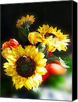 Idea Special Promotions - Sunflowers Canvas Print by Irina Sztukowski