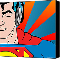 Human Beings Canvas Prints - Superman  Canvas Print by Mark Ashkenazi