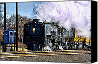 Bill Kesler Canvas Prints - UP 844 Movin On Canvas Print by Bill Kesler