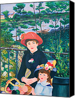 On Special Promotions - Version of Renoirs Two Sisters on the Terrace Canvas Print by Cyril and Lorna Maza