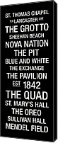 New York Signs Canvas Prints - Villanova College Town Wall Art Canvas Print by Replay Photos