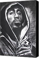 Eric Dee Canvas Prints - 2pac - Thug Life Canvas Print by Eric Dee