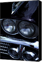 Custom Grill Canvas Prints - 1958 Chevy Bel Air Canvas Print by David Patterson