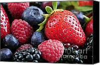 Produce Canvas Prints - Assorted fresh berries Canvas Print by Elena Elisseeva