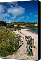 Lonesome Canvas Prints - Beach at Cushendun Canvas Print by Jane McIlroy