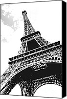 Vacations Canvas Prints - Eiffel tower Canvas Print by Elena Elisseeva